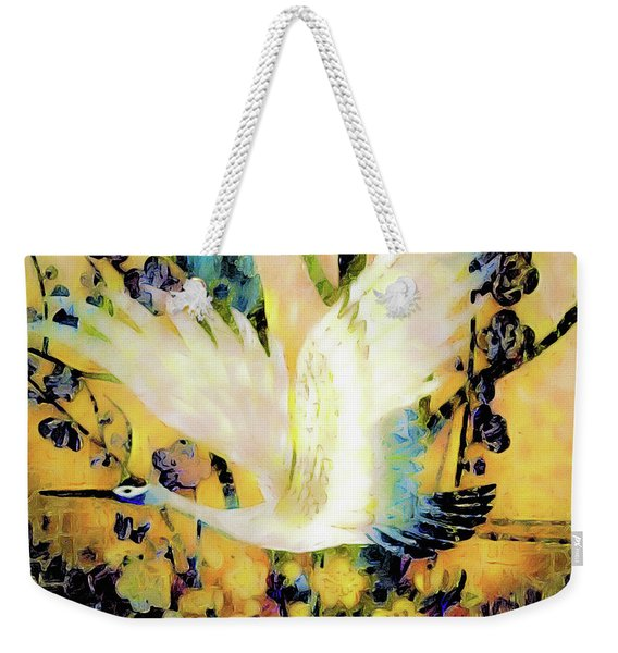 Taking Wing Above The Garden - Kimono Series Weekender Tote Bag