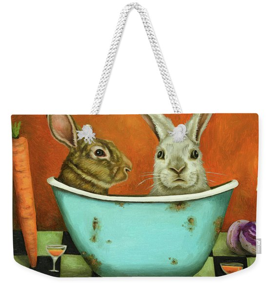 Tale Of Two Bunnies Weekender Tote Bag