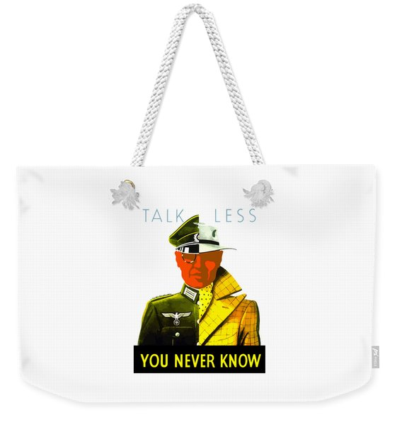 Talk Less You Never Know Weekender Tote Bag