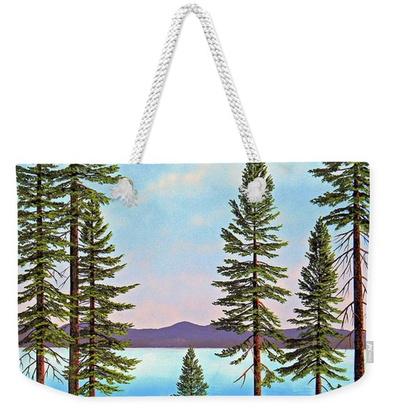 Tall Pines Of Lake Tahoe Weekender Tote Bag