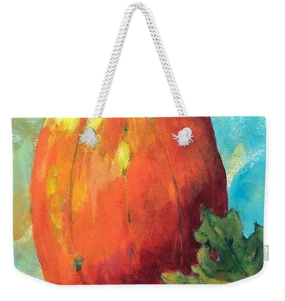 Tall Pumpkin Weekender Tote Bag
