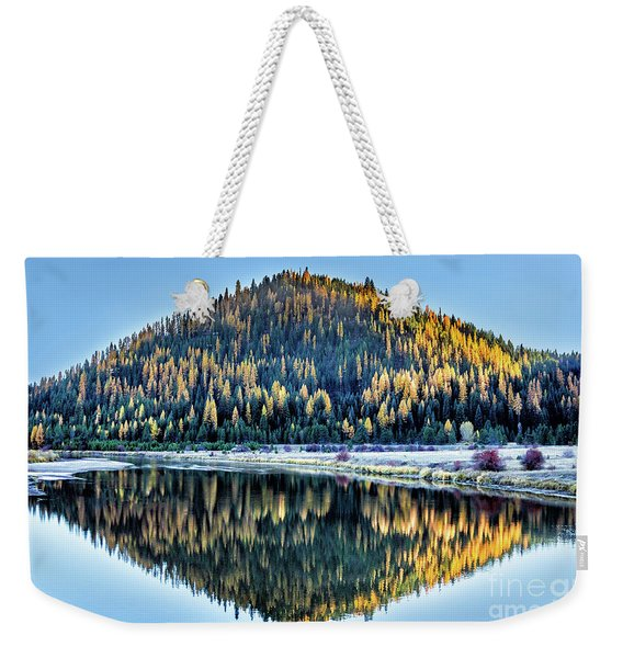 Tamarack Glow Idaho Landscape Art By Kaylyn Franks Weekender Tote Bag