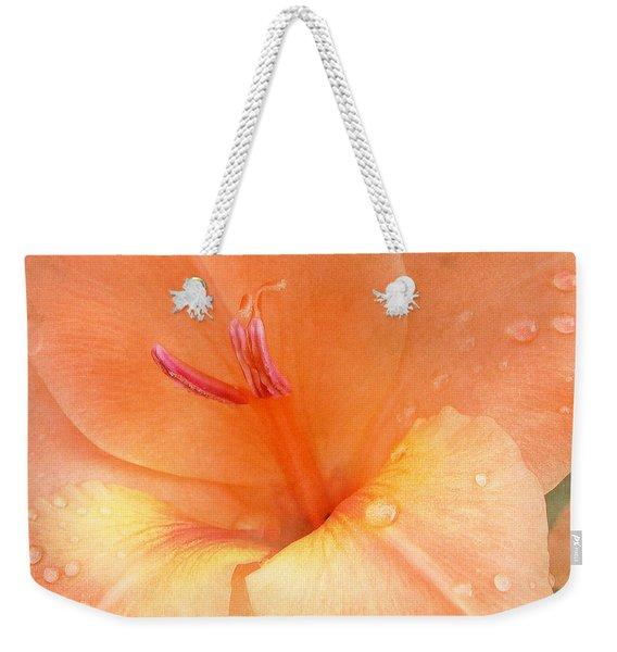 Tangerine Gladiola Weekender Tote Bag