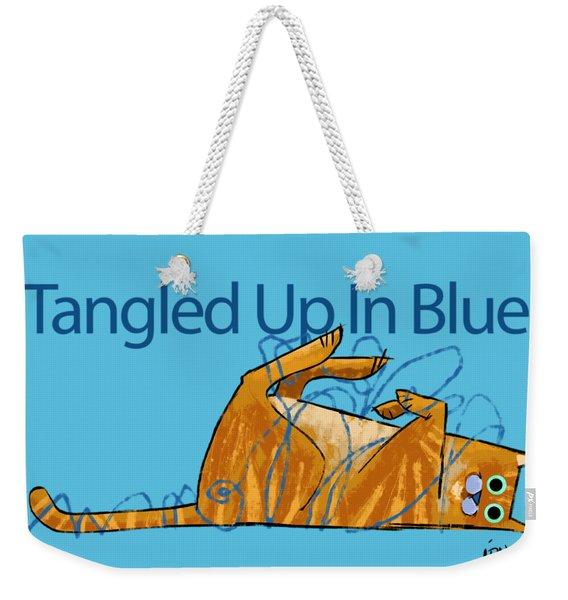 Tangled Up In Blue Weekender Tote Bag