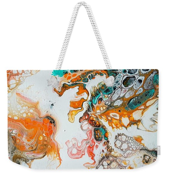 Tango With Turquoise Weekender Tote Bag