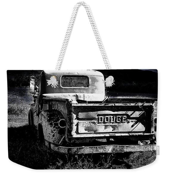 Taos Dodge B-w Weekender Tote Bag