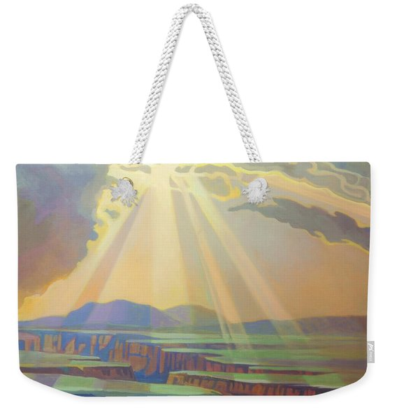 Taos Gorge God Rays Weekender Tote Bag