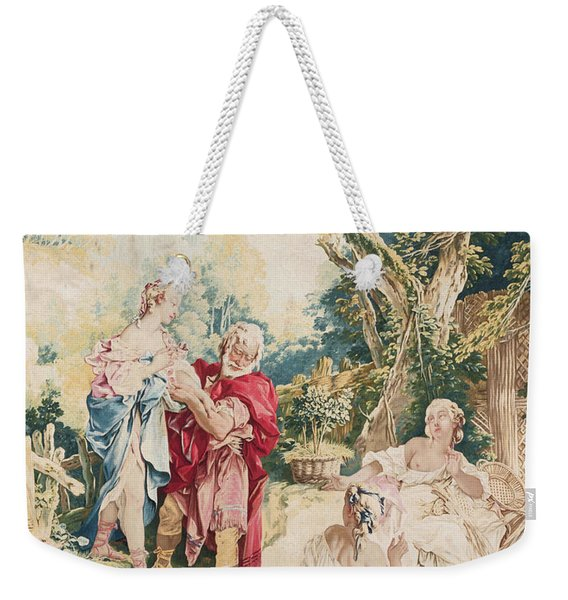 Tapestry Showing Psyche And The Basketmaker Weekender Tote Bag