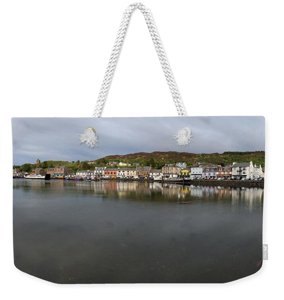 Tarbert Harbour - Panorama Weekender Tote Bag