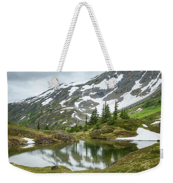 Weekender Tote Bag featuring the photograph Tarns Of Nagoon 209 by Tim Newton