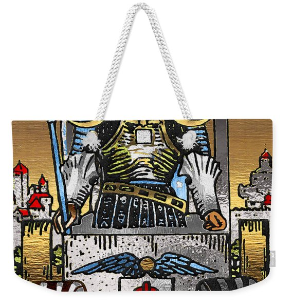 Tarot Gold Edition - Major Arcana - The Chariot Weekender Tote Bag