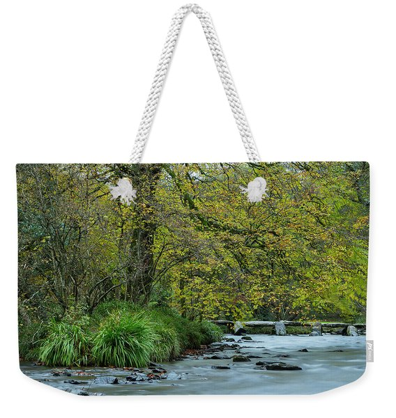Tarr Steps Clapper Bridge Weekender Tote Bag