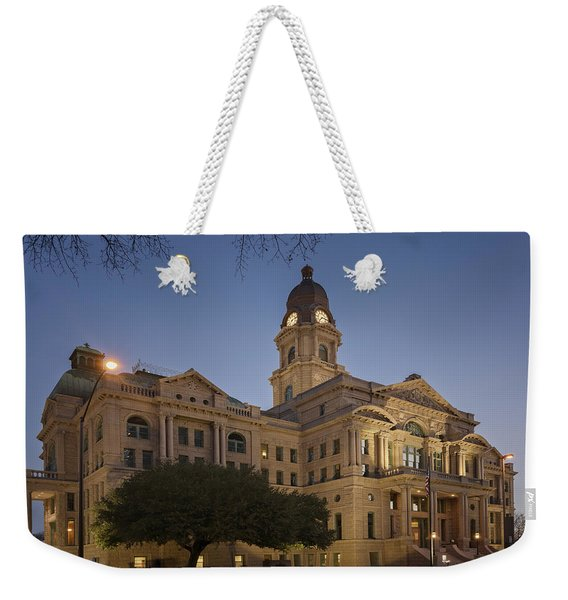 Tarrant County Courthouse Rebirth Weekender Tote Bag