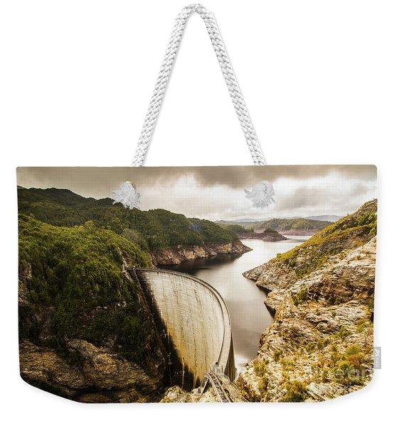 Tasmania Hydropower Dam Weekender Tote Bag