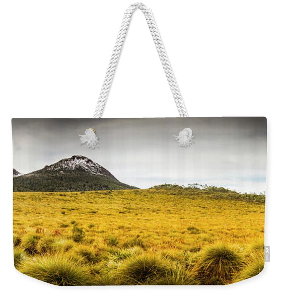 Tasmania Mountains Of The East-west Great Divide  Weekender Tote Bag