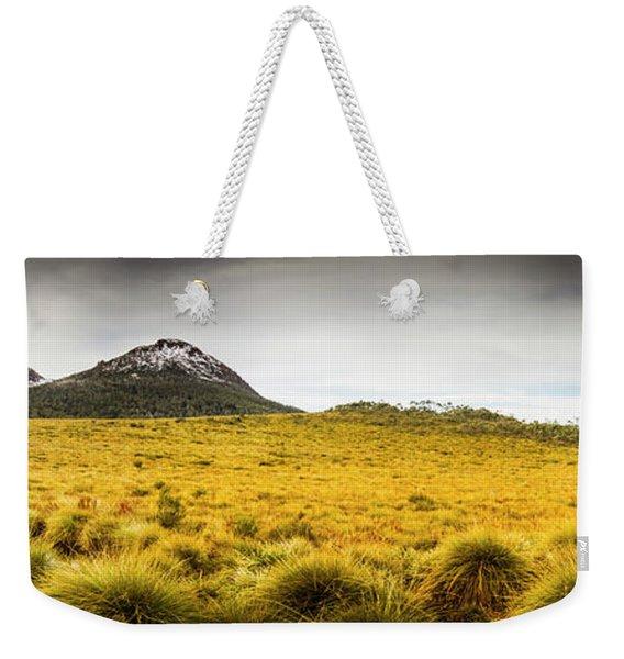 Tasmania Mountains Of The East-west Great Divide  Weekender Tote Bag