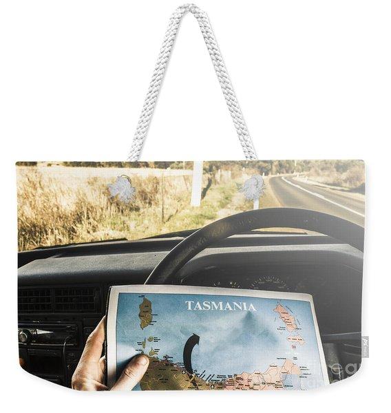 Tasmania Road Trip Weekender Tote Bag