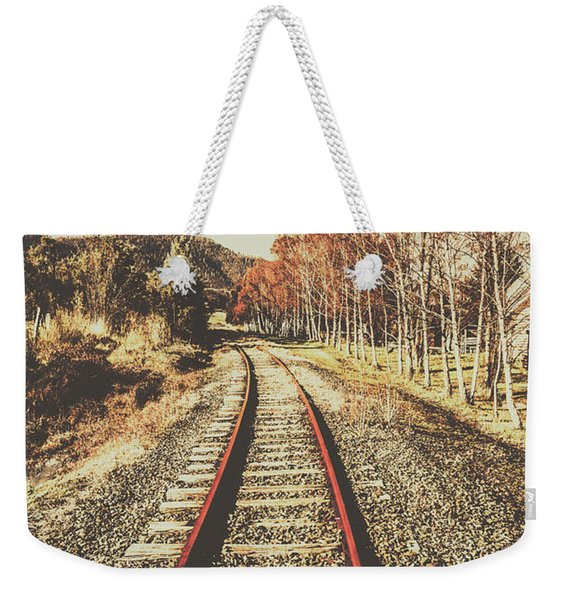 Tasmanian Country Tracks Weekender Tote Bag