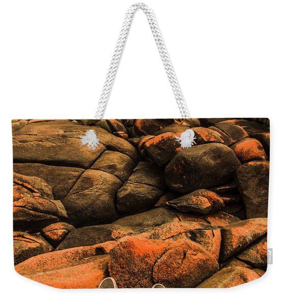 Tasmanian Tourist Kicking Back  Weekender Tote Bag