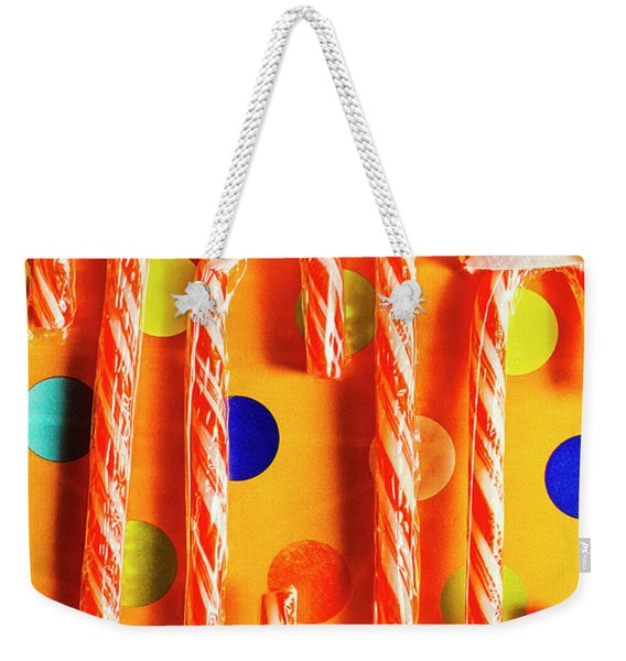 Tasty Candy Cane Sweets Weekender Tote Bag