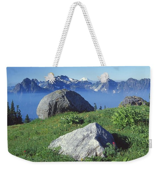 1m4862-tatoosh Range And Mt. St. Helens  Weekender Tote Bag