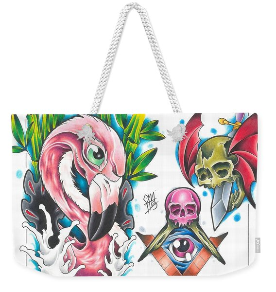 Tattoo Flash - 1 Of 15 Weekender Tote Bag
