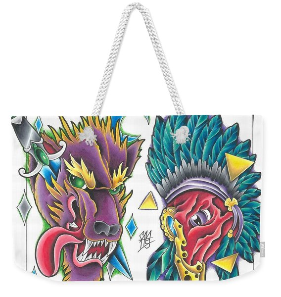 Tattoo Flash - 12 Of 15 Weekender Tote Bag