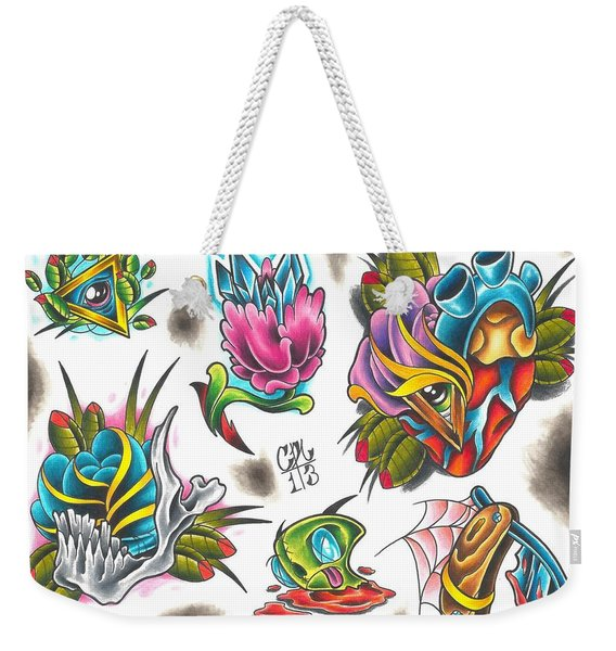 Tattoo Flash - 4 Of 15 Weekender Tote Bag