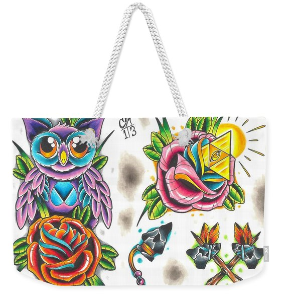Tattoo Flash - 5 Of 15 Weekender Tote Bag