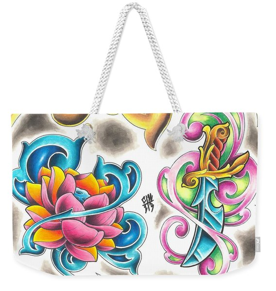 Tattoo Flash - 8 Of 15 Weekender Tote Bag