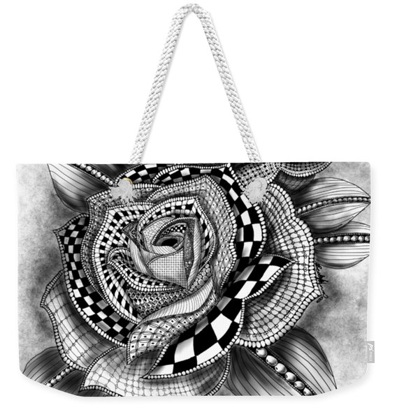 Tattoo Rose Greyscale Weekender Tote Bag