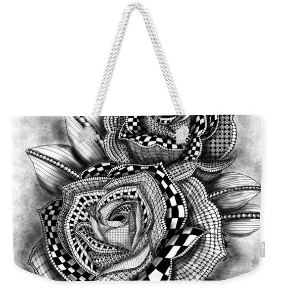Tattoo Rose Greyscale Weekender Tote Bag