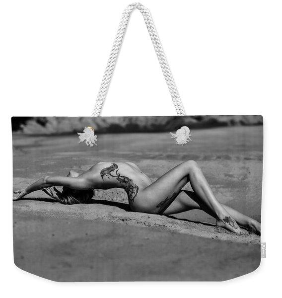Tattoo Woman On The Beach Weekender Tote Bag