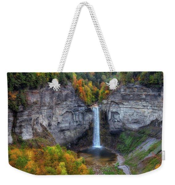 Taughannock Autumn Weekender Tote Bag