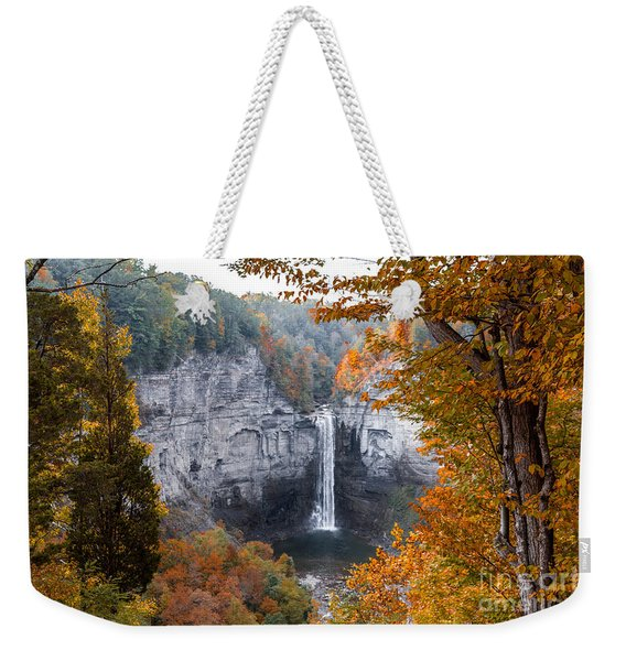 Weekender Tote Bag featuring the photograph Taughannock Autumn by William Norton