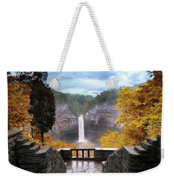 Taughannock In Autumn Weekender Tote Bag