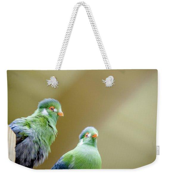 Tauraco Leucotis Weekender Tote Bag