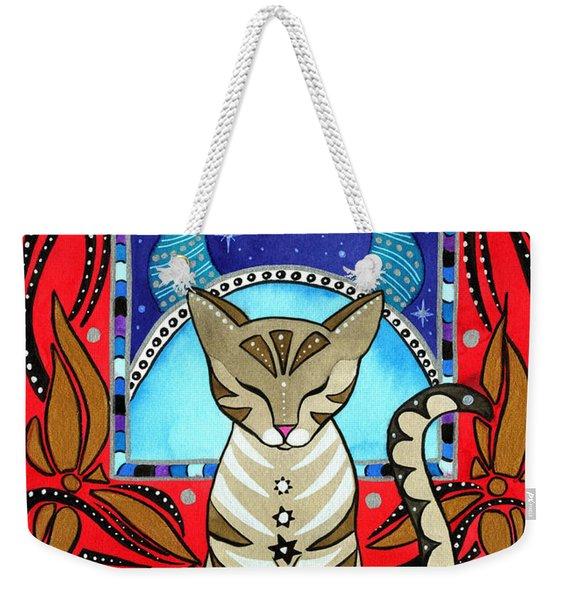 Taurus Cat Zodiac Weekender Tote Bag