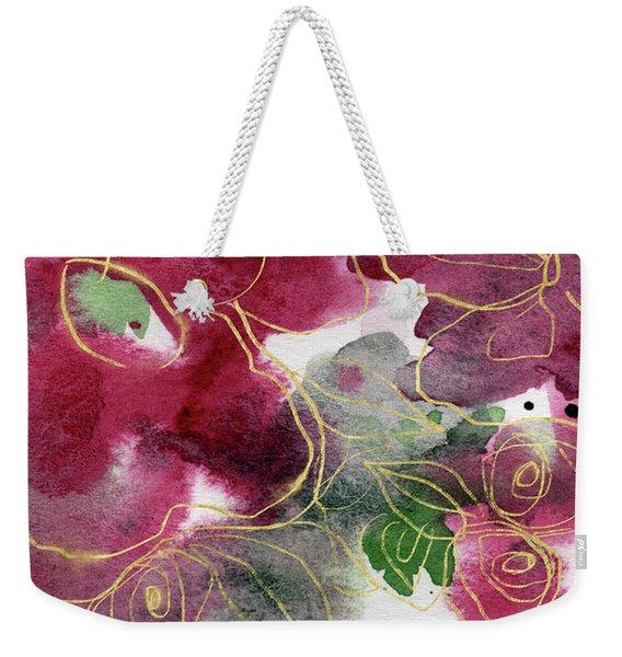 Tea Cup Roses- Art By Linda Woods Weekender Tote Bag