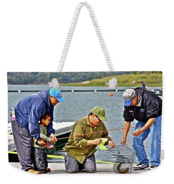 Teach Him To Fish Weekender Tote Bag