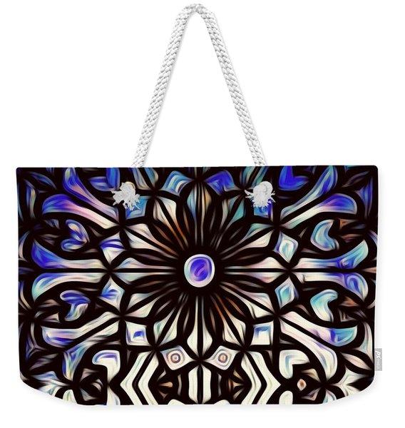 Teal Purple Vibe Weekender Tote Bag
