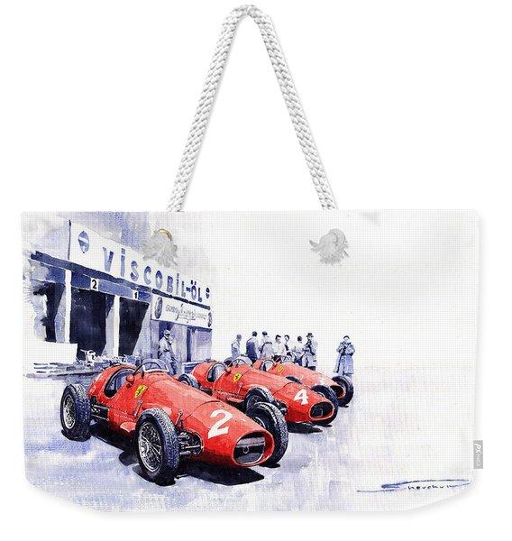 1953 Team Ferrari 500 F2 German Gp Weekender Tote Bag