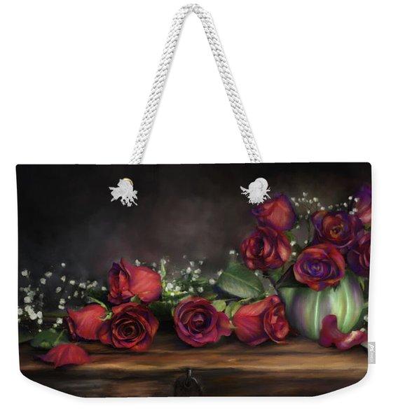 Teapot Roses Weekender Tote Bag