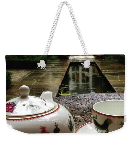 #teatime #rain #london #hkellex13 Weekender Tote Bag