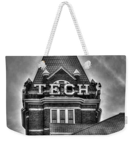 Tech B W Georgia Institute Of Technology Atlanta Georgia Art Weekender Tote Bag
