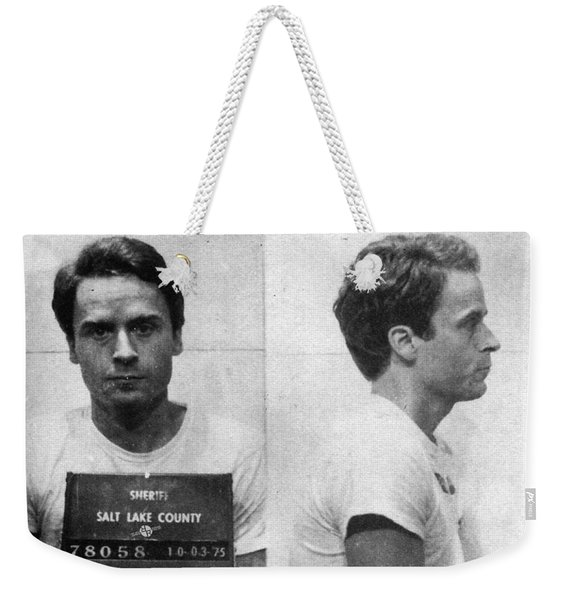 Ted Bundy Mug Shot 1975 Horizontal  Weekender Tote Bag