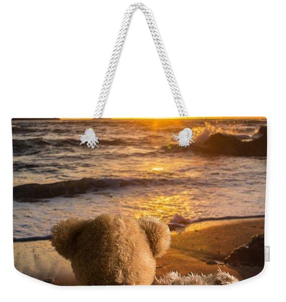 Teddies Watching The Sunset Weekender Tote Bag