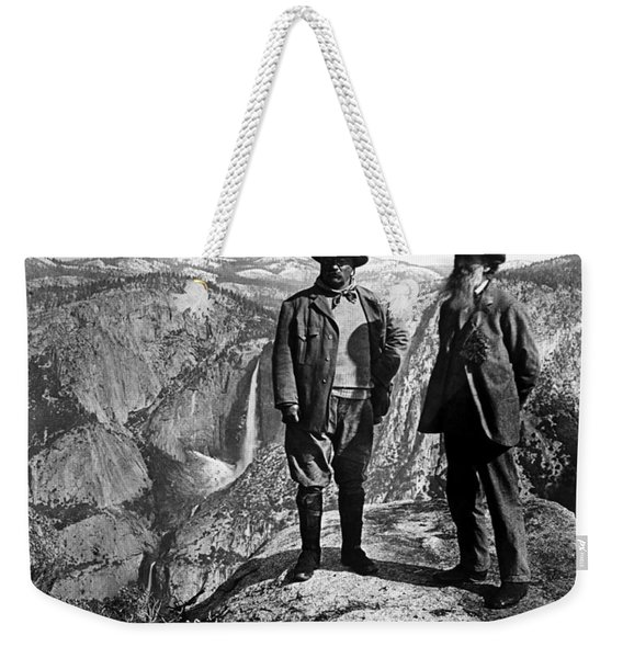 Teddy Roosevelt And John Muir - Glacier Point Yosemite Valley - 1903 Weekender Tote Bag