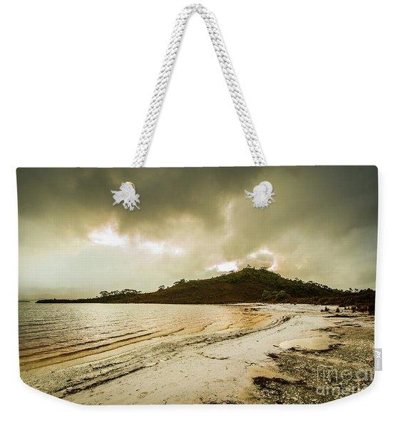 Teds Beach At Dusk Weekender Tote Bag