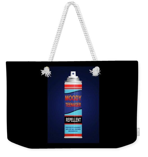 Teenage Moodiness Repellent. Weekender Tote Bag